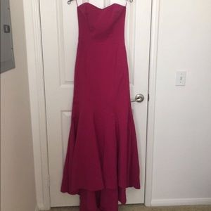 Dresses & Skirts - Elegant pink gown with tail.